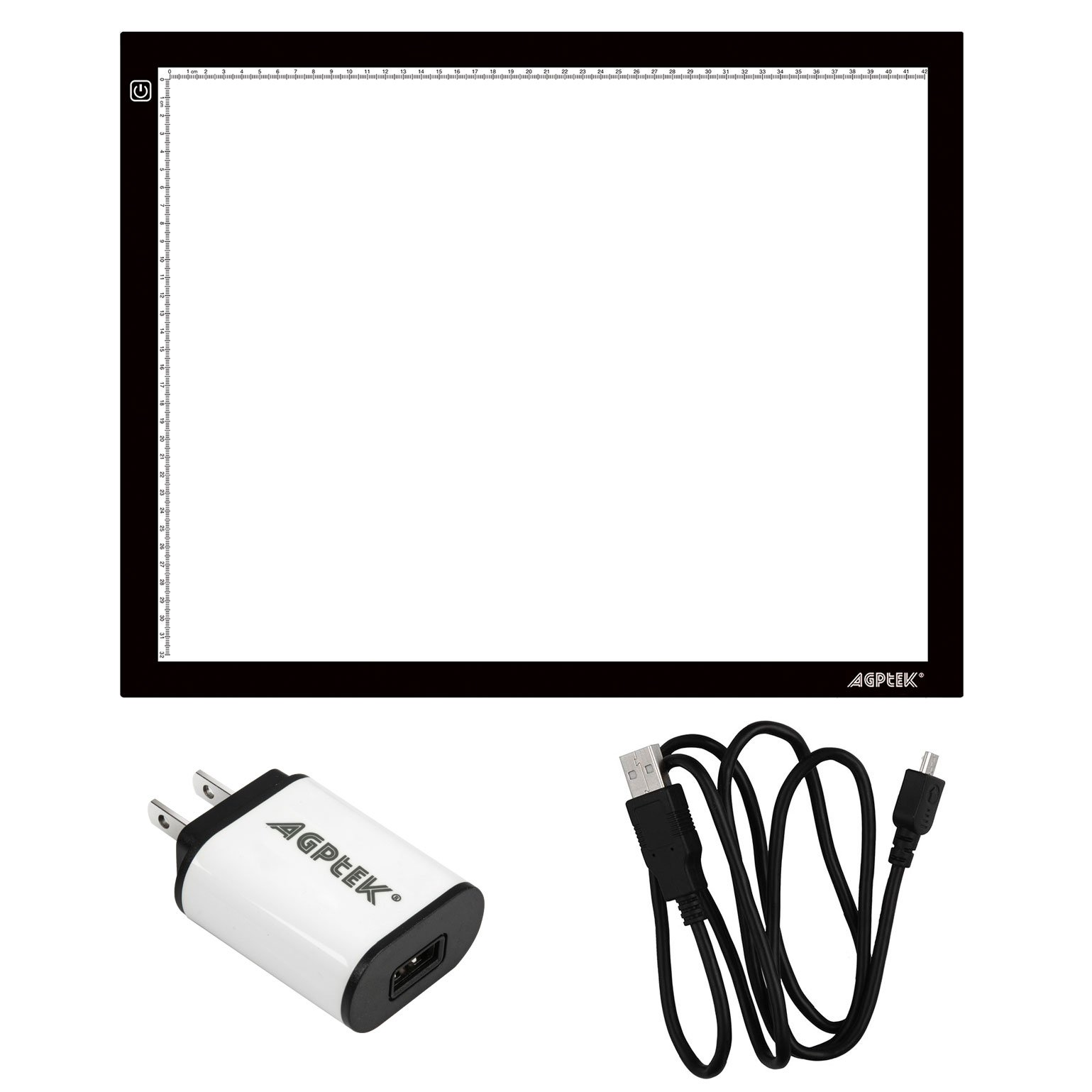 AGPtEK A3 light box, Light Pad Artcraft Tracing Light Board Ultra-thin USB Powered Dimmable LED Brightness for Diamond Painting Tatoo Pad Animation Sketching Designing Stencilling X-ray Viewing by AGPTEK