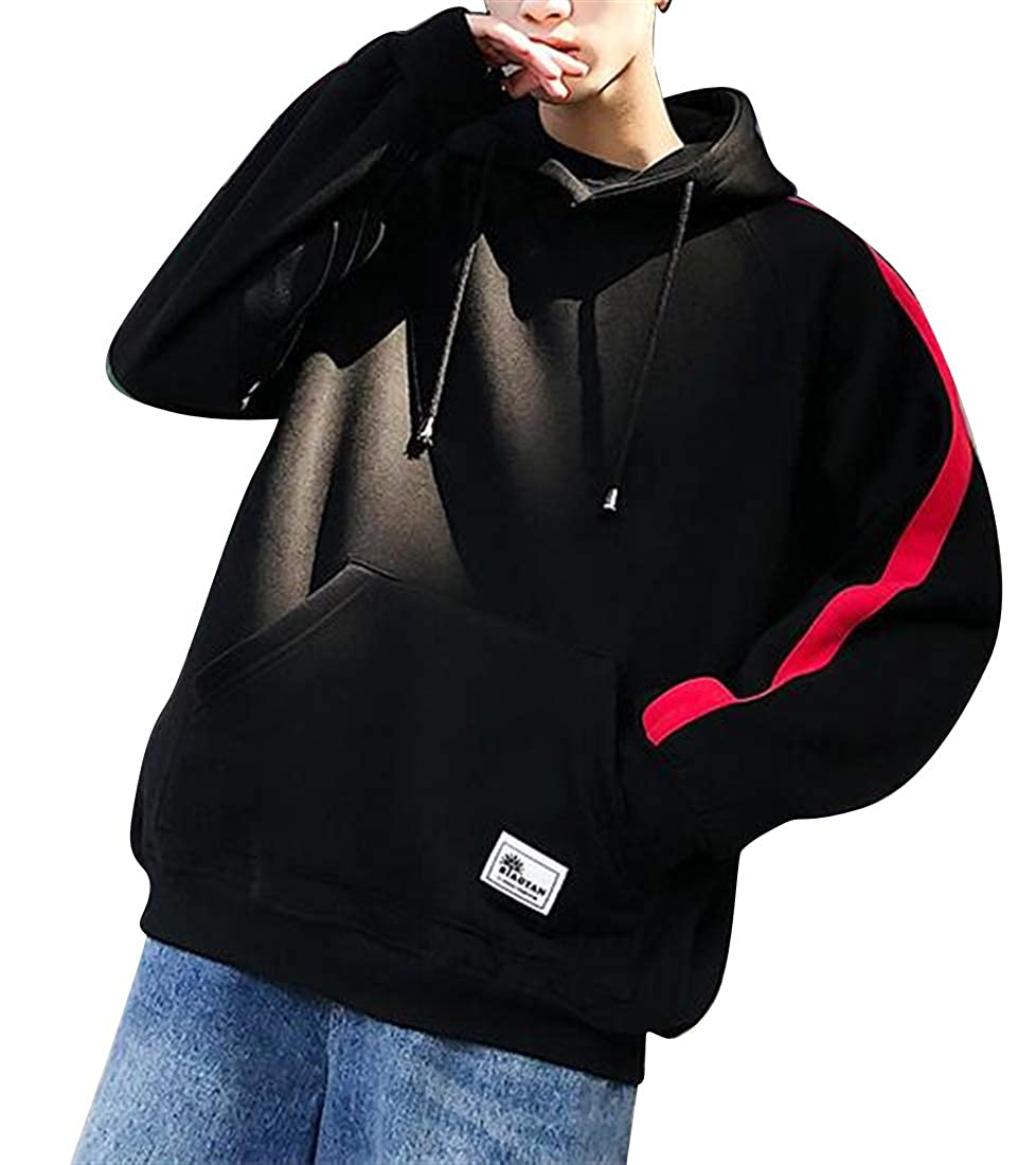 XiaoTianXinMen XTX Mens with Pockets Casual Active Plus Size Loose Fit Pullover Hoodie Sweatshirt