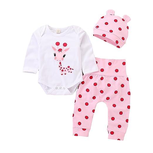 a133effd3 Amazon.com  Lamuusaa Newborn Infant Toddler Baby Girl Long Sleeve ...