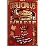Canada - Vintage Maple Syrup Sign (9x12 Art Print, Wall Decor Travel Poster)