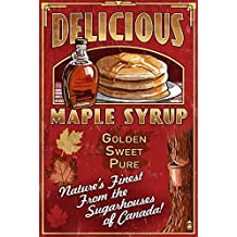 Canada - Vintage Maple Syrup Sign (16x24 Giclee Art Print, Wall Decor Travel Poster)