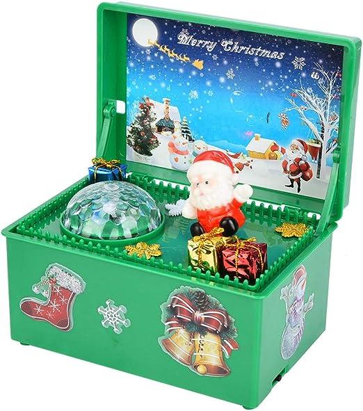 Caja De Música, MuñEco De Santa Claus Caja De Musica Navidad ...