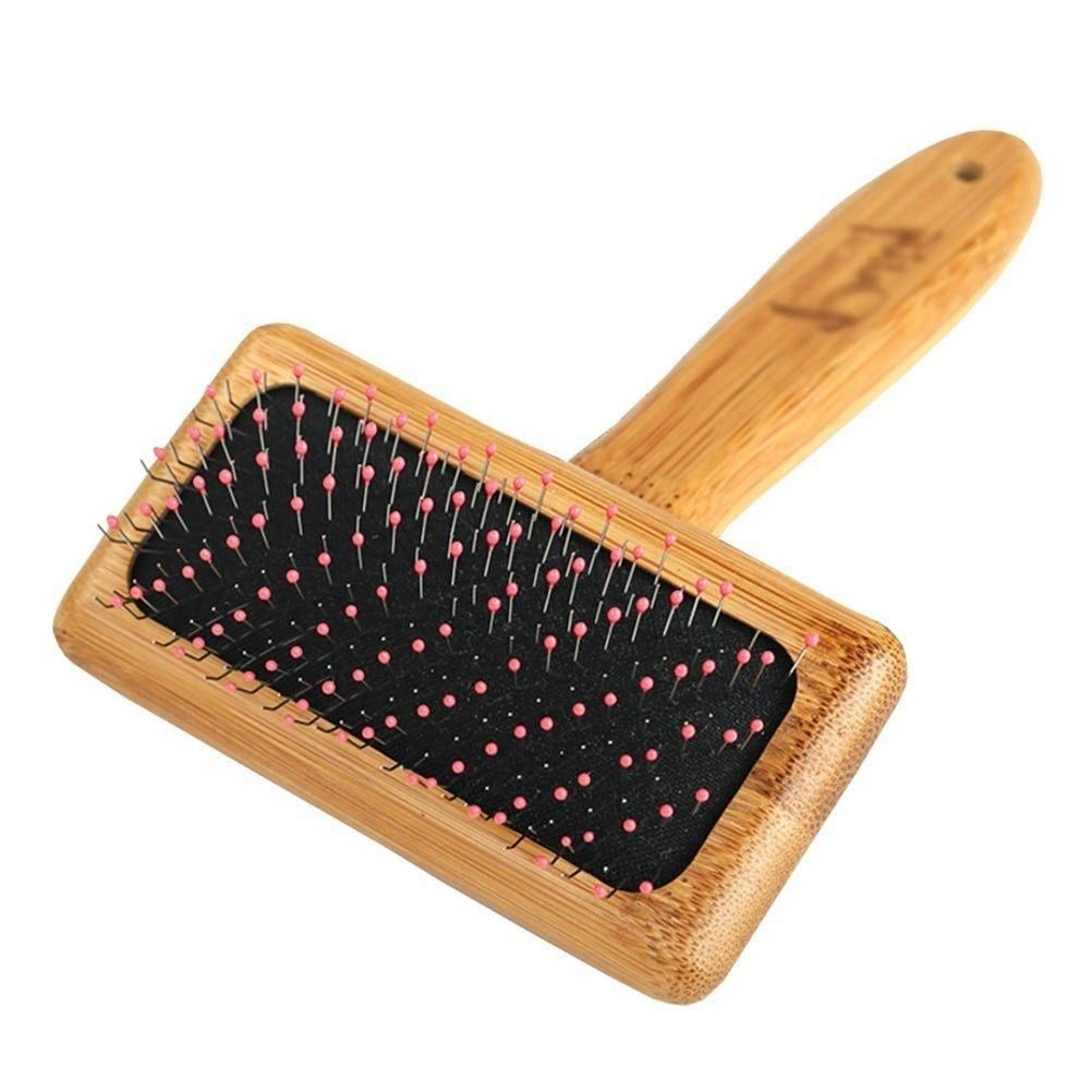 Wooden Dog Massage Brush, Cat Needle Comb Beauty Cleaning Care Large Dog Teddy Hair Removal Special Pet Supplies (Size : M)