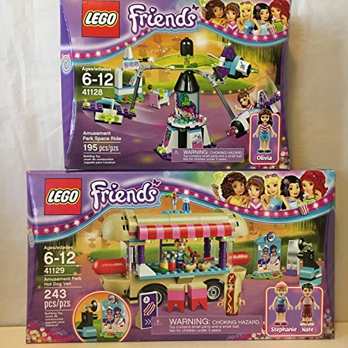 LEGO Friends Amusement Park Hot Dog Van & LEGO Friends Amusement Park Space Ride
