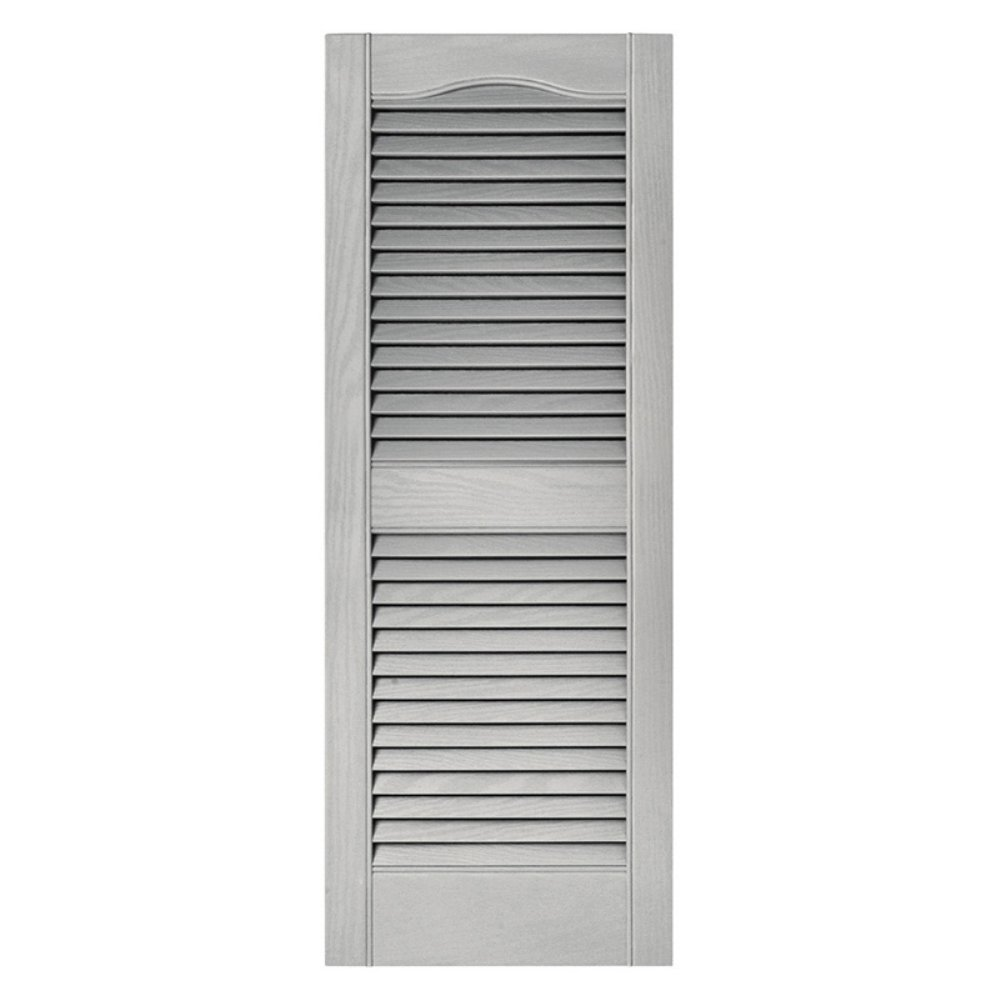 Builders Edge 010140055030 Pair Of 15 x 55-Inch Paintable Louvered Shutters - Quantity 1