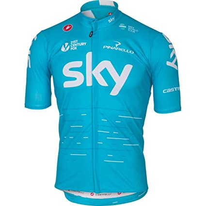 Amazon.com   Castelli Team Sky Podio Jersey XX-Large Sky Blue ... ab481df38