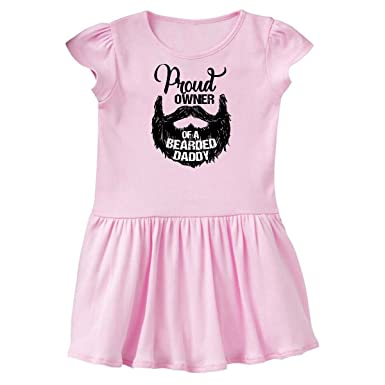 6b7a91d05 inktastic - Proud Owner of a Bearded Daddy Infant Dress 6 Months Pink 28873