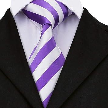 AK Hombres S Tie Sn-339 Nuevo conjunto de corbata a rayas Blanco ...