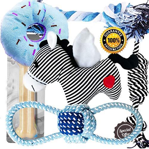 BUIBIIU Dog Toys Bundle, Dog Teehting Toys Puppy Chew Toys Small Dog Toys Puppy Chew Toys Doggie Best Teething Toys 6 pcs