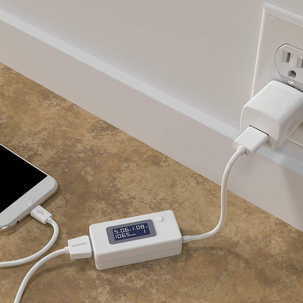 Tensione USB LCD//amplificatori di Potenza del Tester del Tester della Prova di velocit/à del Caricabatterie Cavi capacit/à delle Banche di Potenza Level