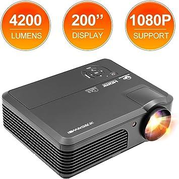 Proyector de video LED de 4200 lúmenes con conexión de altavoz TV ...