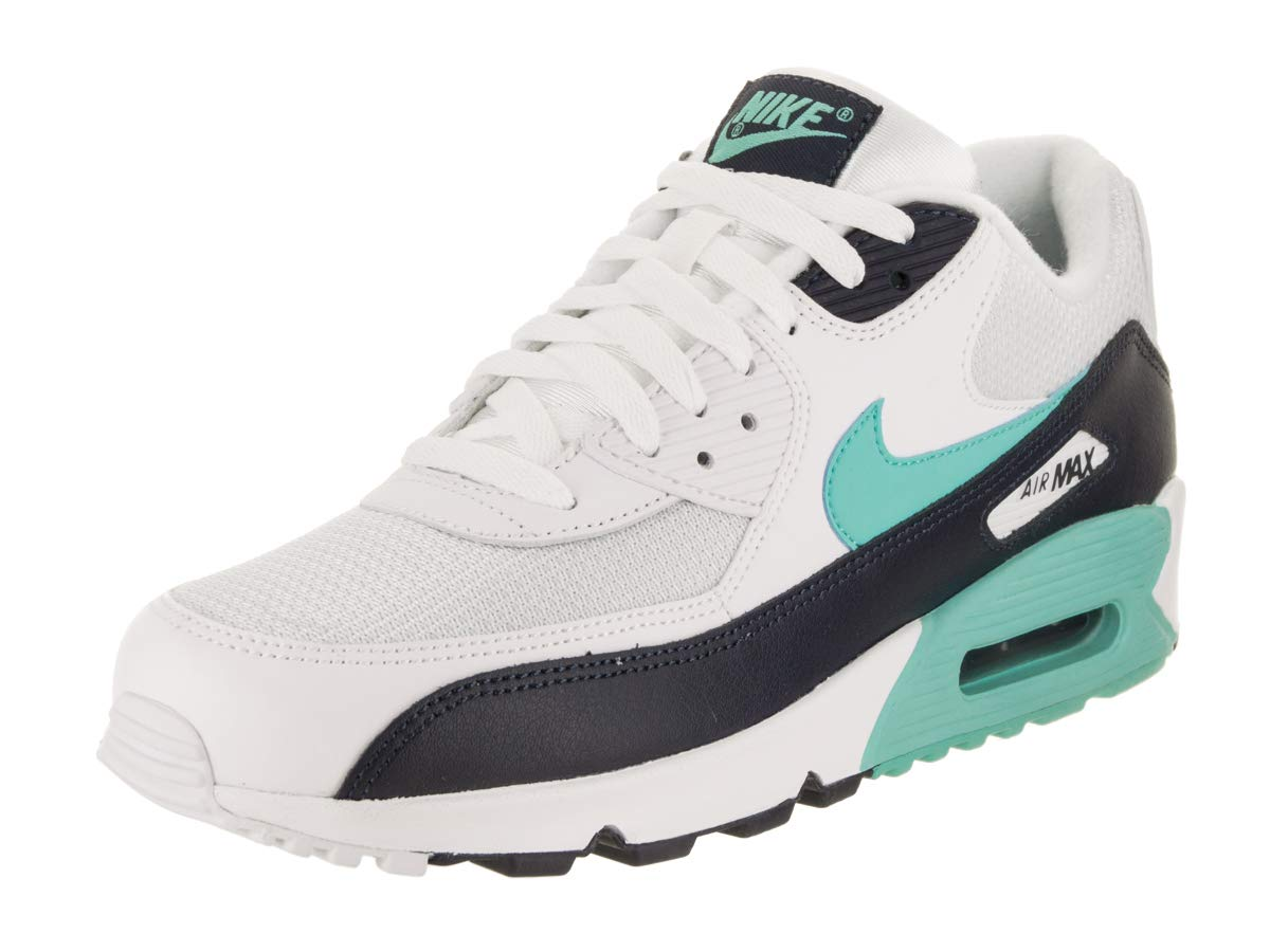 info for 25584 ac9bd Galleon - Nike Mens Air Max 90 Essential Running Shoes White Aurora  Green Obsidian AJ1285-102 Size 8.5
