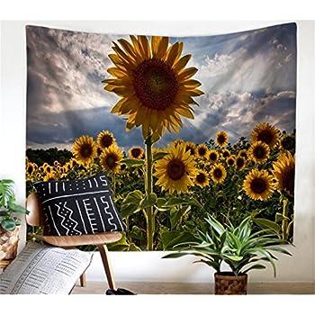 Leofanger Flower Tapestry Wall Hanging Forest Sunflower Lavender Landscape
