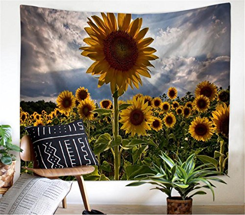 Flower Tapestry Wall Hanging, Forest Tapestry Sunflower