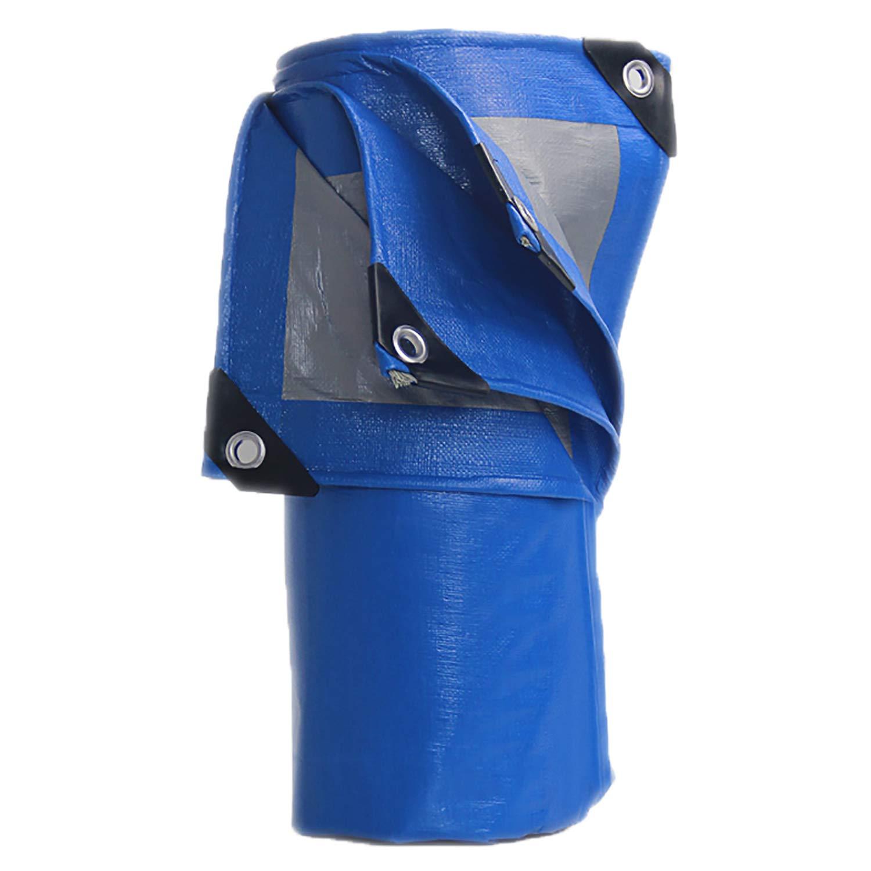 AQAWAS Gewebeplane Wasserdichter, widerstandsfähiger Abdeckplane Wasserdicht UV-Besteändiger Schutzbogen für Abdeckplane Wasserdicht Abdeckungen,Blau_5x6m
