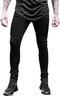 Herren Hose Ronamick männer lang Trainingshose Freizeithose skinny jeans Sporthose Jogginghose Sweatpants Winter Trousers Warm Sporthose Sweatpants(2XL, Blau)