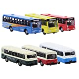 BS150 6pcs Diecast Model Buses Car 1:160 N Scale