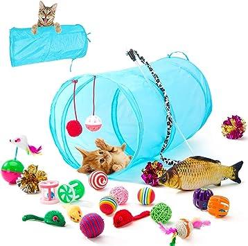 Gato de tela en piezas colorido Garn-ball-mascotas