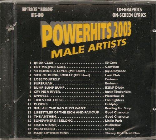 Powerhits 2003 Male Pop & Rock Karaoke CDG Hip Tracks HTG-1010 (Theory Music Justin)