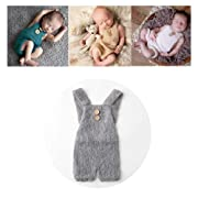 Vemonllas Luxury Fashion Unisex Newborn Baby Girl Boy Outfits Photography Props Rompers (Grey)