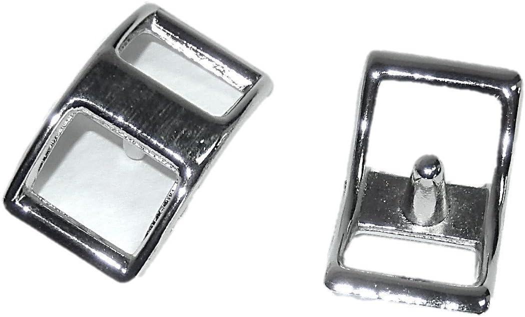 """10ea 5//8/"""" CONWAY BUCKLES ZINC DIECAST NICKEL PLATE 210Z"""