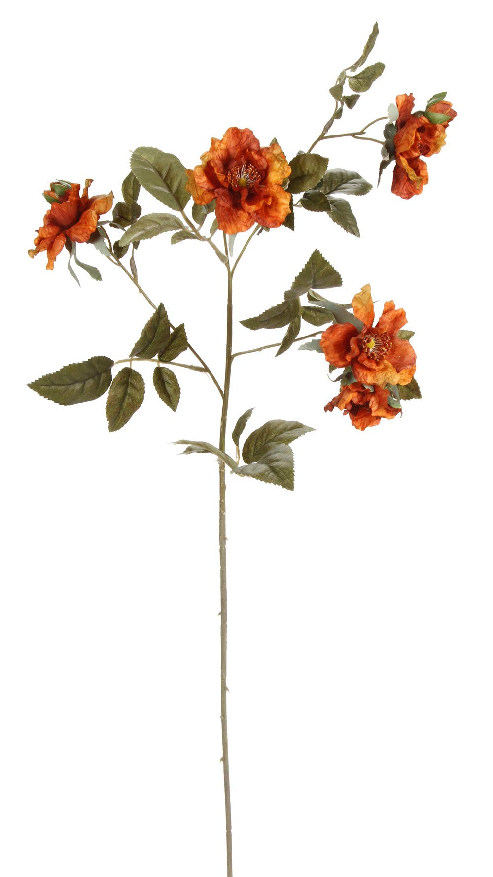 Darice SQ13G20208-YJ/AL Everyday Long Stem Wild Rose Spray X3, 28'', Copper