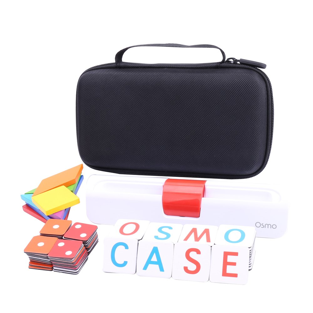 Storage Organizer Case for Osmo Genius Kit, fits OSMO Base/Starter/Numbers/Words/Tangram/Coding Awbie Game by Aenllosi (Black) by Aenllosi (Image #5)