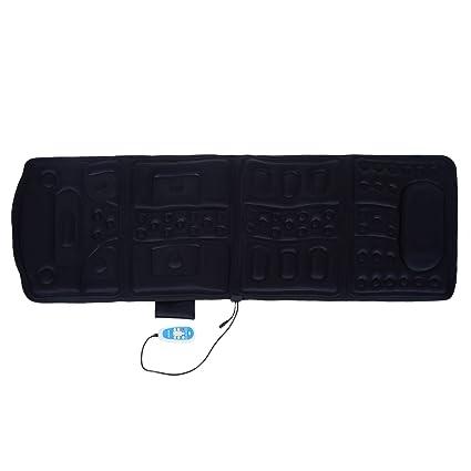 Homcom® – Colchoneta de masaje cojín de masaje manta eléctrica con función de calor Esterilla