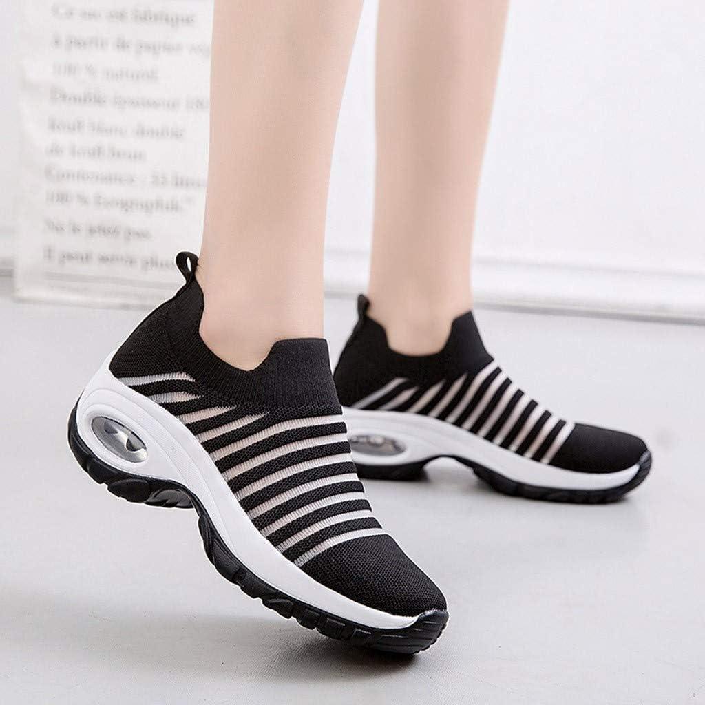 Beikoard Chaussures De Course Travail Running Sports Trail Entraînement Espadrilles Femme Légères Confortable Basket Mode Sneakers Chaussure Noir