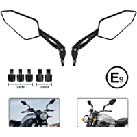 CUHAWUDBA Motorcycle Rear View Mirror Side Mirrors for VFR800 2002-2008 V-TEC Motorbike Accessories