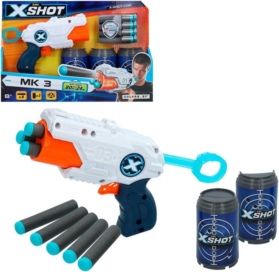 X-Shot - Pistola Tek X-Shot + 3 botes (44765)