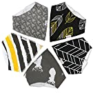 Baby Bandana Drool Bibs by Snappy Swagger (5-Pack) - Adjustable Baby Bandanas in Modern Designs - Baby Girl or Boy Bandana Bibs make Great Shower Gift - 100% Cotton Polyester Fleece (The Outdoorsman)