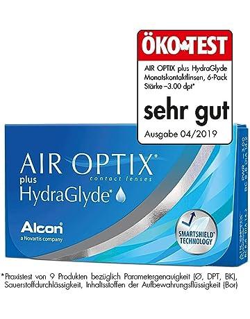 6422d05dbb AirOptix Plus Hydraglyde 10109103 Lentes de Contacto, R 8.6, D 14.2,  Dioptría -