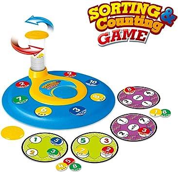 KUNEN Bingo Juego de matemáticas Juego Educativo para niños Preescolar,Juguetes educativos tempranos a Juego - Juego de Mesa: Amazon.es: Juguetes y juegos