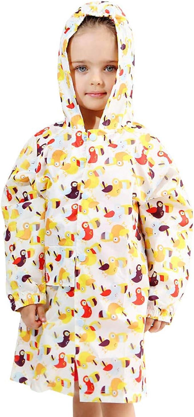 OCHENTA Kids Boys Girls Lightweight Rain Jacket Waterproof Hooded Outwear