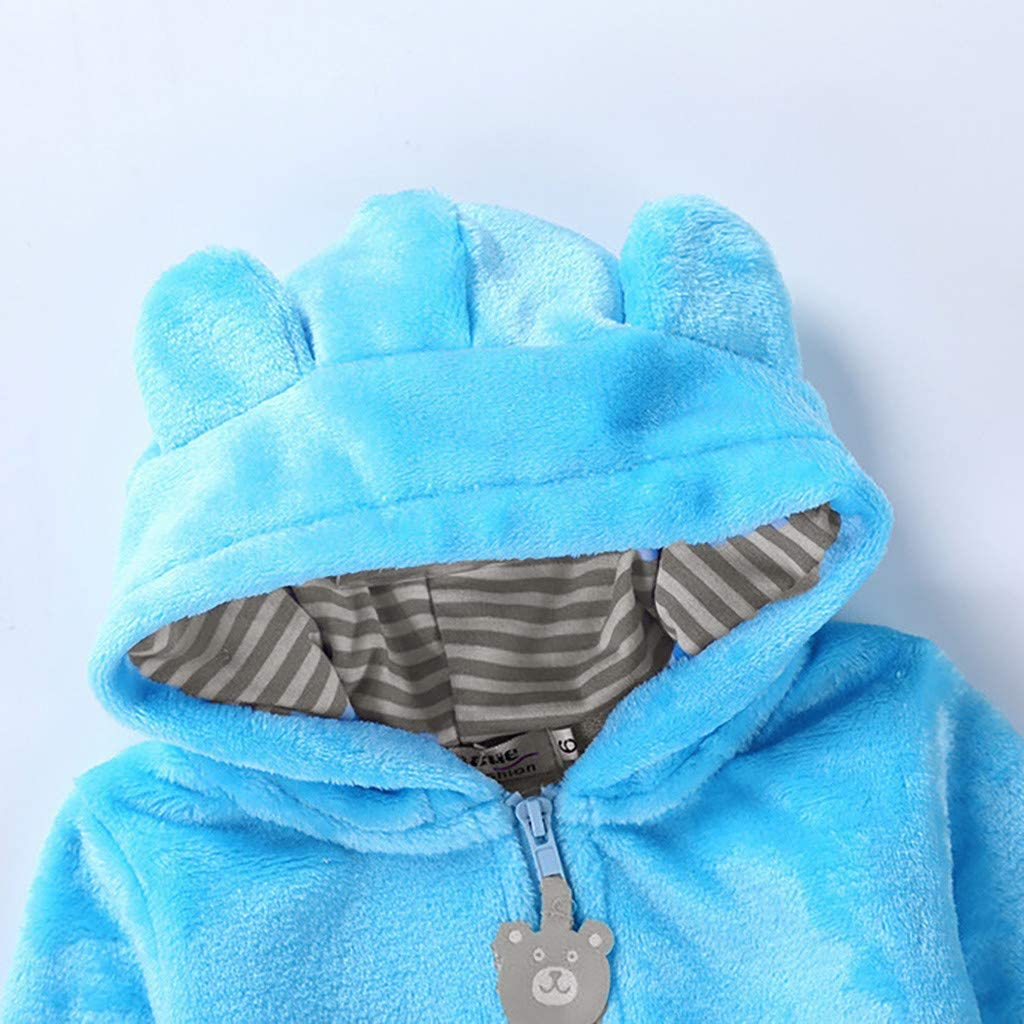 Baby Girls Boys Hoodies Coat Cute Bear Thick Fleece Jackets Soft Warm Outerwear Infant Kids Long Sleeve Winter Cloth Hooded Outfits Cashmere Parka Down Jacket