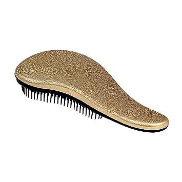 HittecH Detangler Comb Handle Tangle Detangling Brush Shower Hair Brush Styling Salon Tamer Manufacturer Directly (Gold)