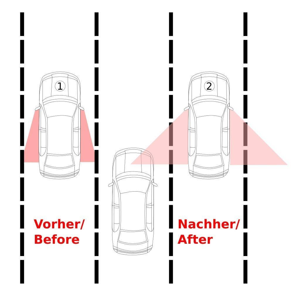 Repusel Toter-Winkel-Spiegel Banana Aufsatzspiegel mit individuellen Einstellm/öglichkeiten f/ür ein optimales Blickfeld passend f/ür 99Prozent der Automodelle