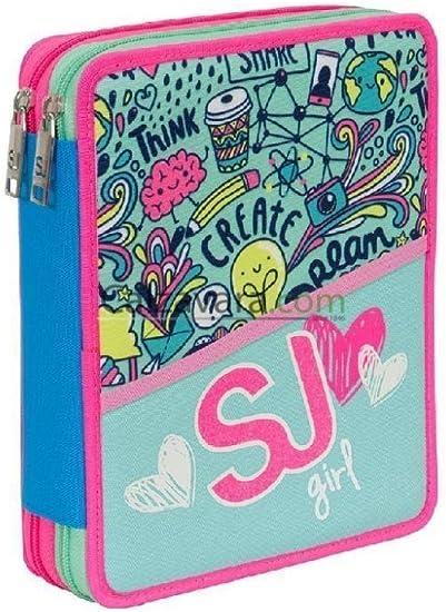 Maxi estuche Girl SJ.Gang Seven, color VERDINO: Amazon.es: Oficina y papelería