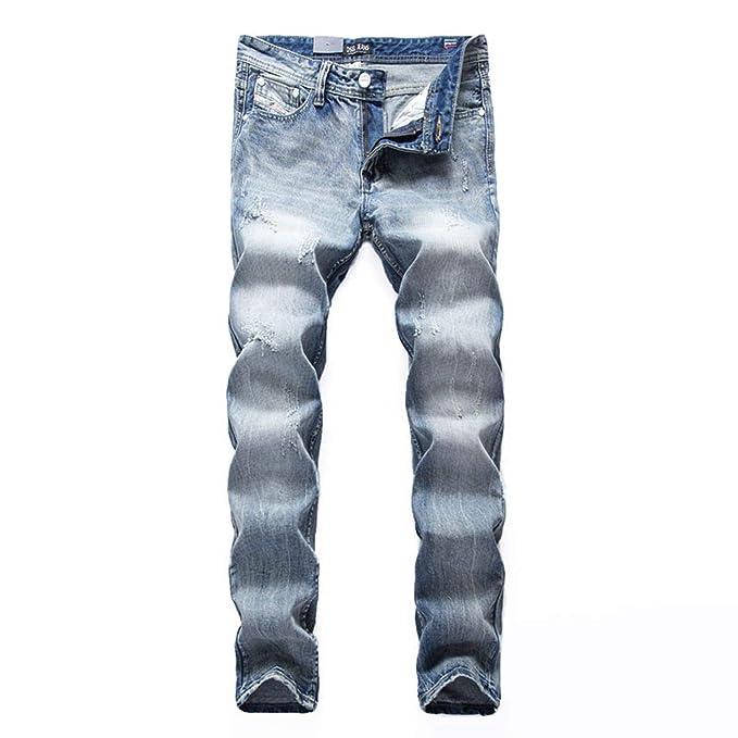 Amazon.com: Pantalones vaqueros lavados italianos para ...