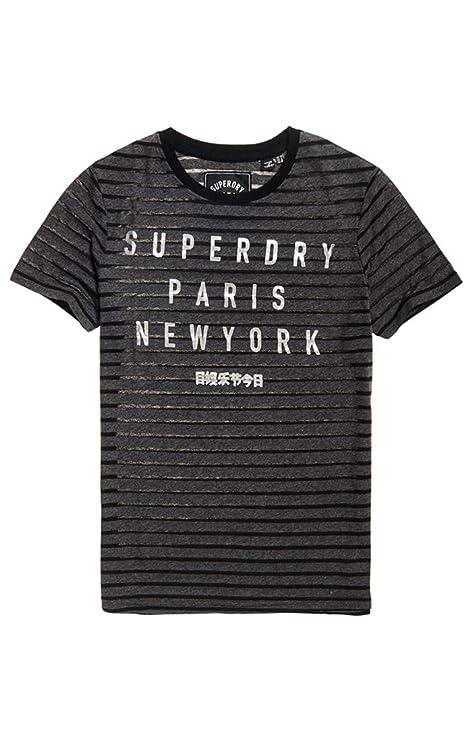 Superdry New City Burn out Stripe Entry Camiseta de Tirantes para Mujer: Amazon.es: Ropa y accesorios