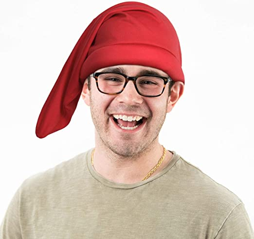 Gnome Cappello GRANDE PUFFO Costume NANA ROSSA Adulto Costume Accessorio