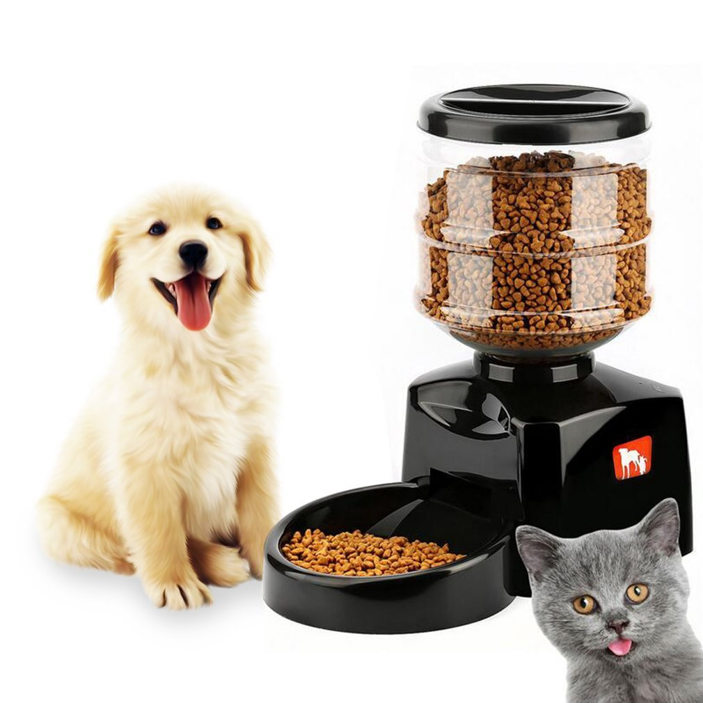 Automatic Pet Feeder , YKS Pet Dry Food Container Timer Programmable with Voice Message Recording and LCD Screen Large Smart Dogs Cats Food Bowl Dispenser for Dogs Cats Pet Hup Hup PF19
