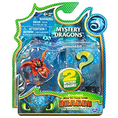 How to Train Your Dragon, The Hidden World - Mystery Dragons (2 Pack) (Hookfang): Toys & Games