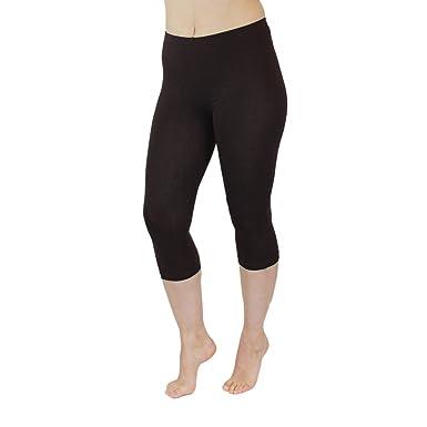 fcebaa845ffe46 Blickdichte Leggings für Damen Capri Hose Leggins Bunt aus Baumwolle 3/4  Länge, Farbe