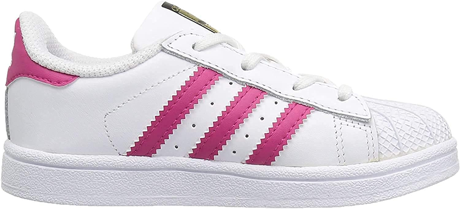 adidas Originals Damen Superstar Foundation J Turnschuh, weiß Weiß Bold Pink Weiß