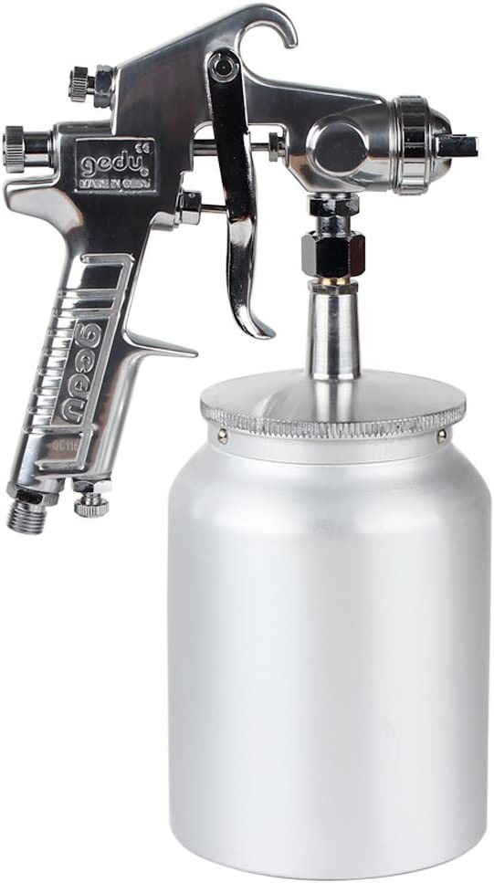 High Pressure Spray Gun with 1000cc Cup, 3.0mm Nozzle, sliver