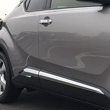 For Toyota C-HR CHR 2016 2017 Car Side Door Body Trim ABS Chrome vI