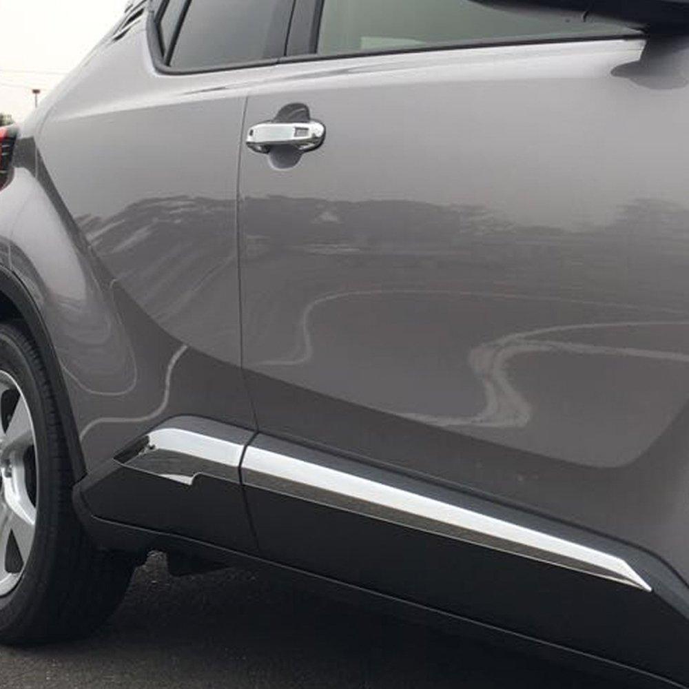 For Toyota C-HR CHR 2016 2017 2018 ABS Chrome Body Side Door Molding Strip Cover Trim 4PCS kadore