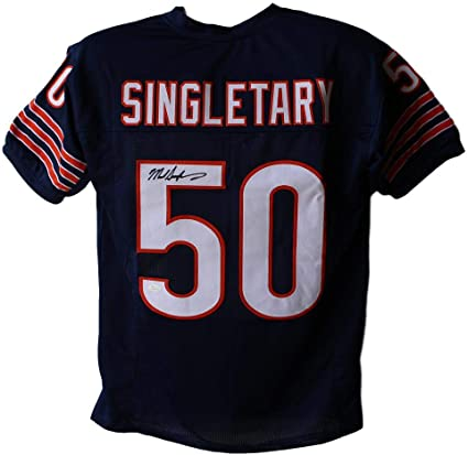 Amazon.com: Mike Singletary Autographed/Signed Chicago Bears Blue ...